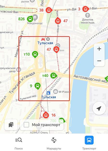 Значки на карте